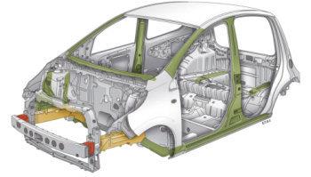 Voici quelques dessins de la Citroën C1. Sur cette page, on présentera en détail les dimensions extérieures aussi bien qu'intérieures de la Citroën, ainsi que ses éléments de sécurité: airbags, renforts structuraux.